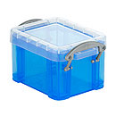 Kunststoffboxen Really useful Boxes, transparent blau