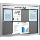 SOFTLINE infobord, 90 mm diep, 4 x A4 horizontaal